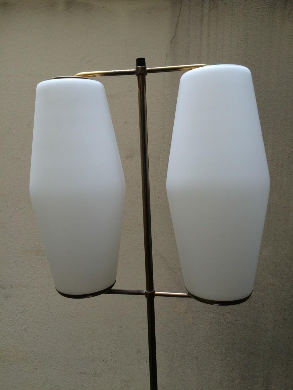 lampadaire Stilnovo verreries