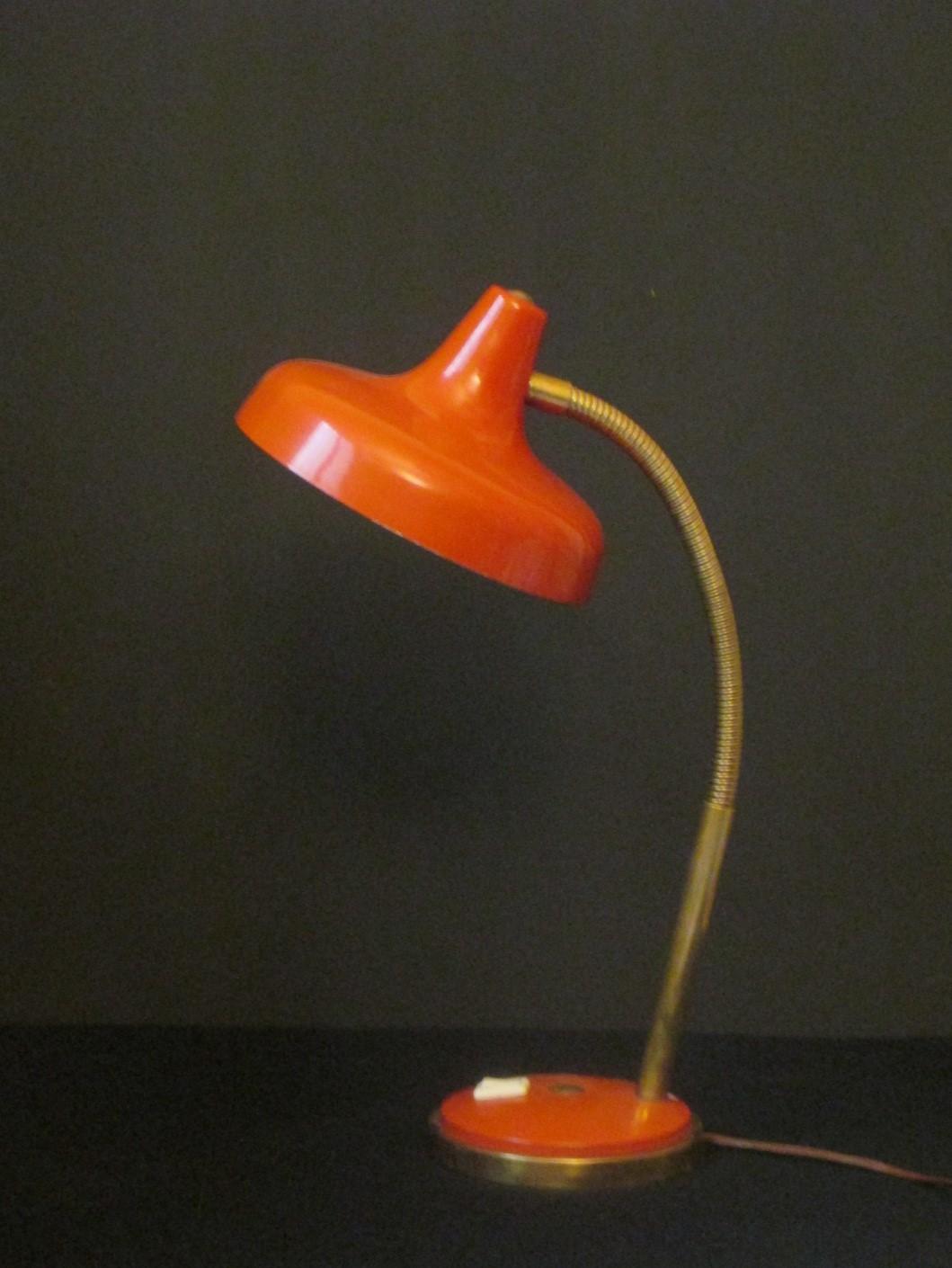 lampe de Bureau Année 50 orange