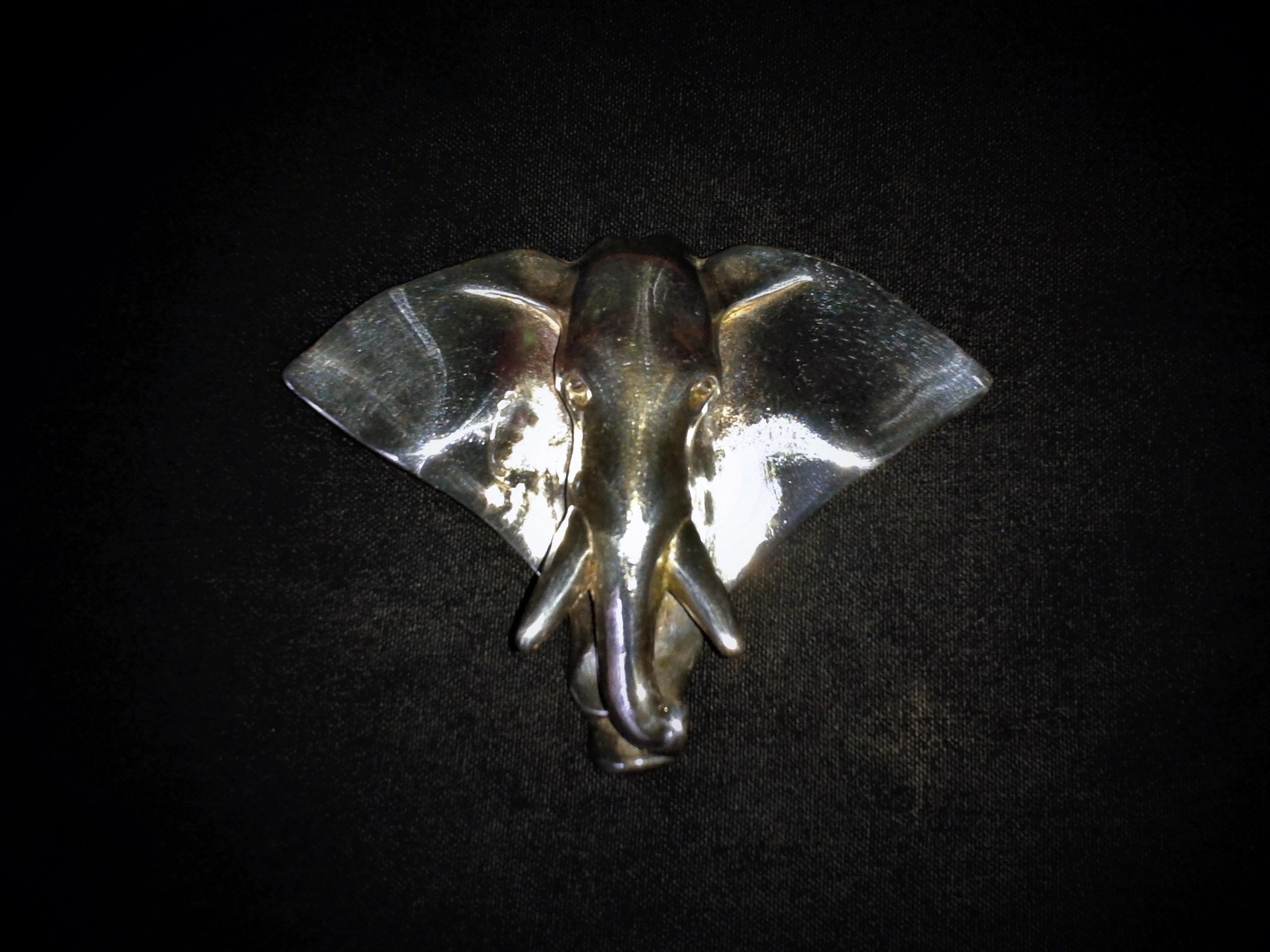 Broche tête d'éléphant