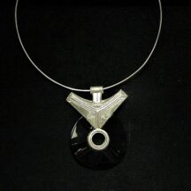 Collier Touareg onyx -argent