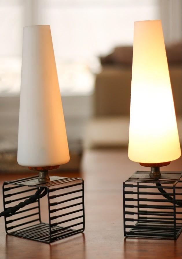 Paire de lampes 1960